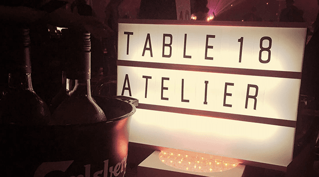 Table 18 Atelier Lightbox from Wirehive Awards