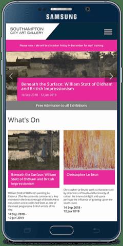 southampton city art gallery mobile