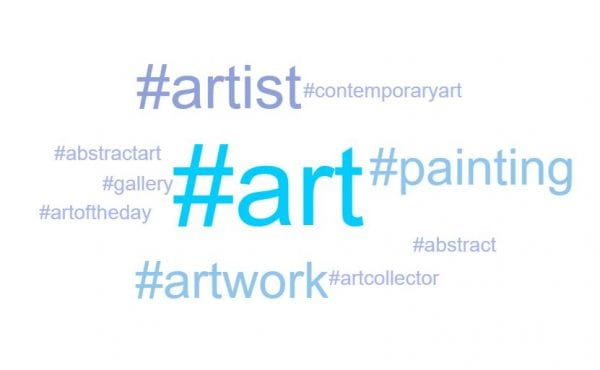art gallery word cloud