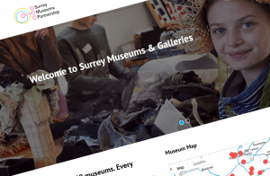Screenshot of Surrey Museums Partnership – WordPress Website website